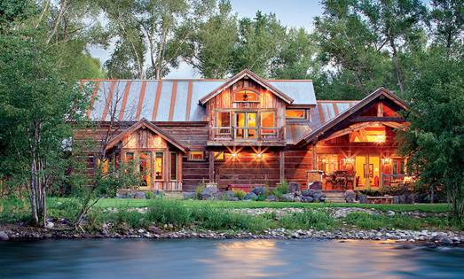 Riverside Rustic: A Reclaimed Timber Home
