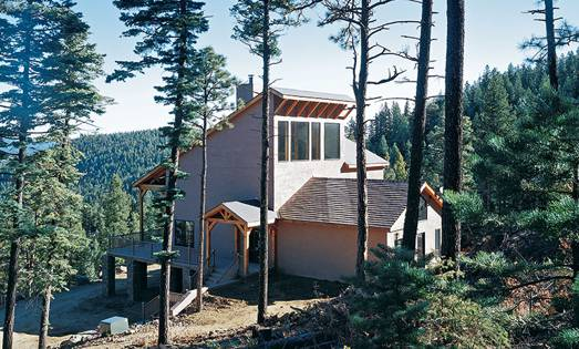 Mountain View Timber Home in New Mexico