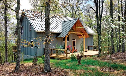 A Small Timber Home Built for Two