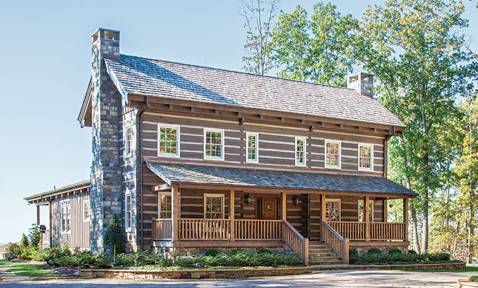The Tennesse Timber Frame Hybrid Home