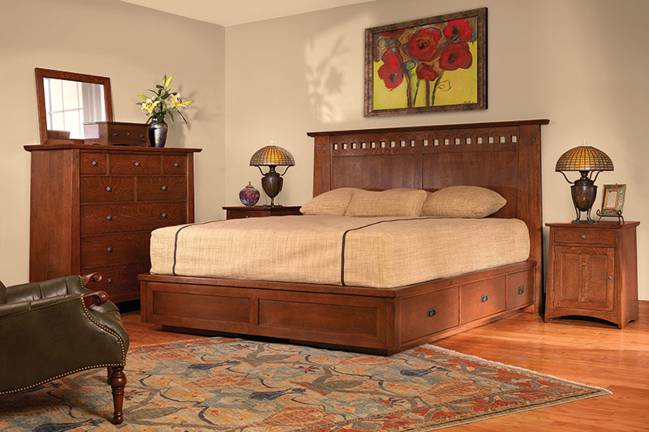 stickley arts & crafts bed