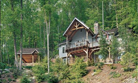 The Simple Life: A Blue Ridge Mountains Timber Cabin