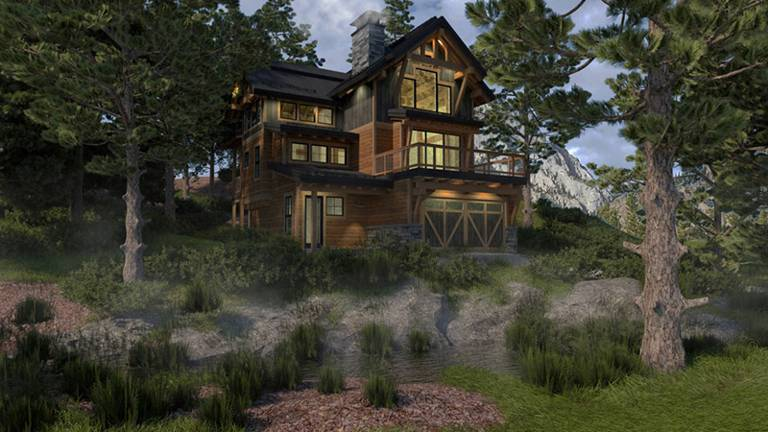 Alpine Timber Home Floor Plan from Colorado Timberframe