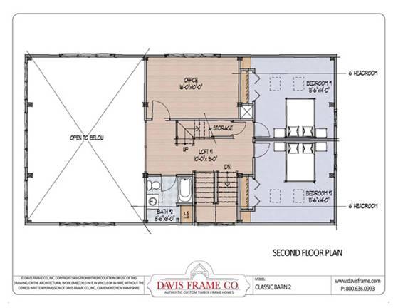 Davis frame company classic barn 2 home plan for Classic barn plans