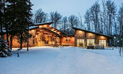 The Mountain Modern Candian Timber Frame Home