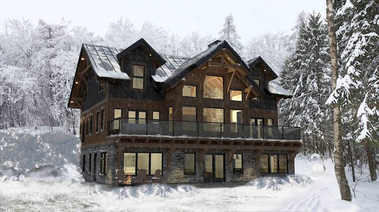 Glacier Timber Frame Floor Plan by Colorado Timberframe