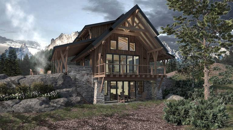 Steamstone Timber Home Floor Plan by Colorado Timberframe